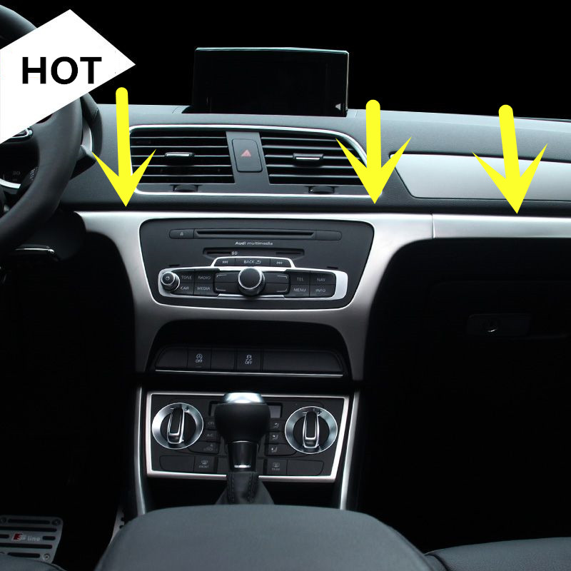 Interior Dashboard Central Console Panel Cover Trim For Audi Q3 2013-2016  3pcs dashboard cover