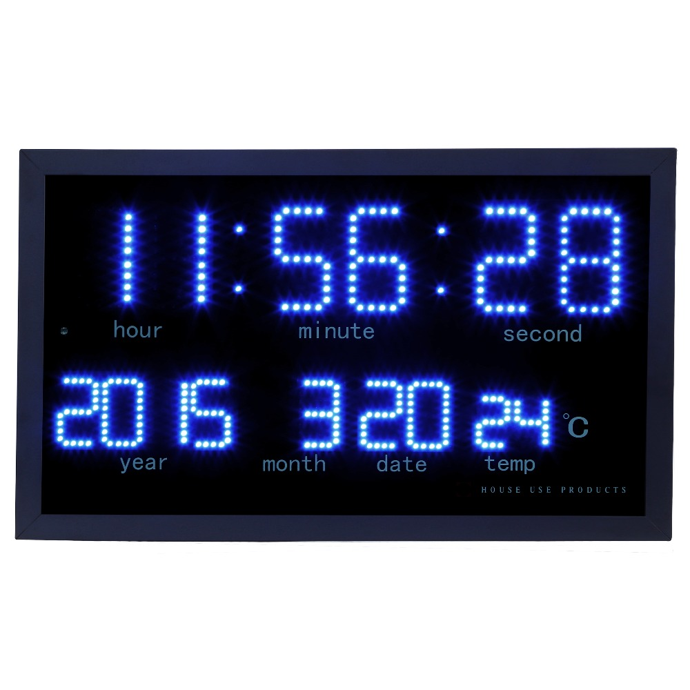 Dot matrix led digital large wall clock Living room modern ...