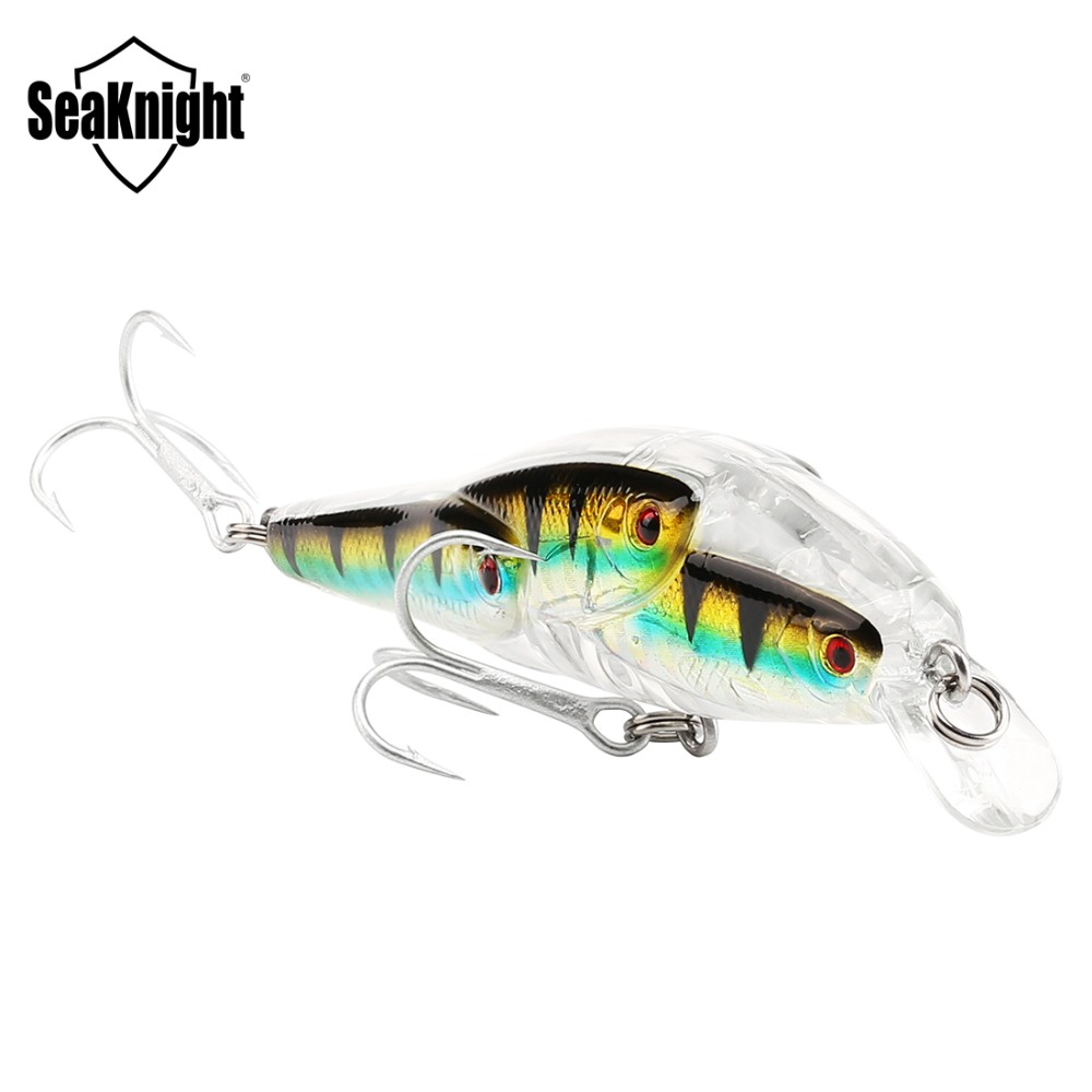 SeaKnight Minnow SK037 Fishing Lure 1PC 10.2g 78mm 0-1.0M Floating Hard Bait 3D Fish Eyes VMC Hooks Saltwater/Freshwater Fishing