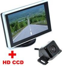 4.3 «цветной ЖК-Видео-Складной Монитор Автомобиля Ночного Видения резервное копирование Камеры Помощи При Парковке Авто Универсальный CCD Автомобильная Камера Заднего вида