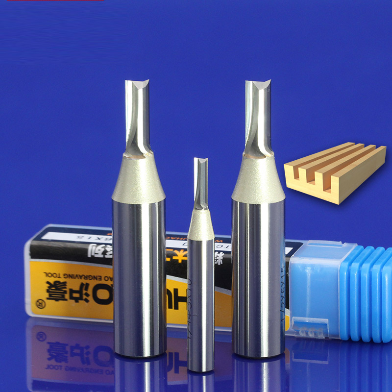 1pc 1/4*2*8 mm Straight Flute cutter Wood Slotting Tools milling woodworking CNC engraving router Slot bit 6.35mm shank 12.7 1/2 high grade carbide alloy 1 2 shank 2 1 4 dia bottom cleaning router bit woodworking milling cutter for mdf wood 55mm mayitr