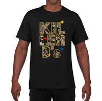 Projekt ShirtsShort Rękawem Top Kil Ler B's Antonio Brown Le'Veon Bell Big Ben Zabójca Pszczoła Steelers Koszulka Crew Neck T koszula