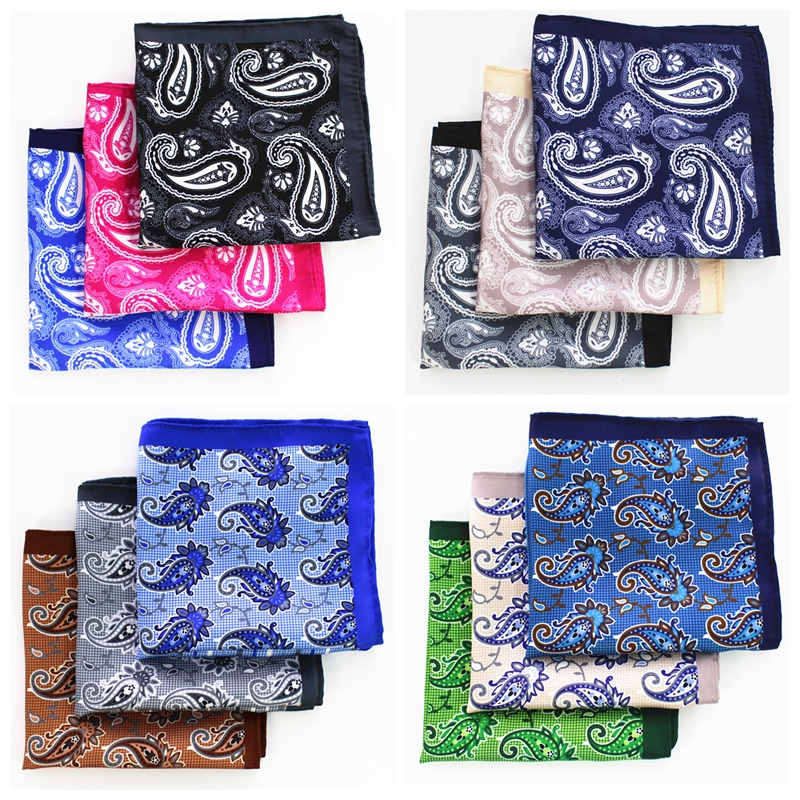 JEMYGINS Slik Floral Multicolor Fashion Men Pocket Square Sell Well Hankerchief Accessories for Gentlemen Suit Tie