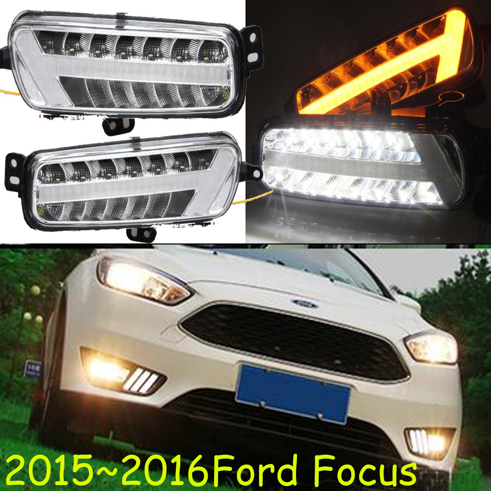 1set car bumper light for Focus daytime Light Fusion car accessories 2015~2017y LED DRL headlight for Focus fog light