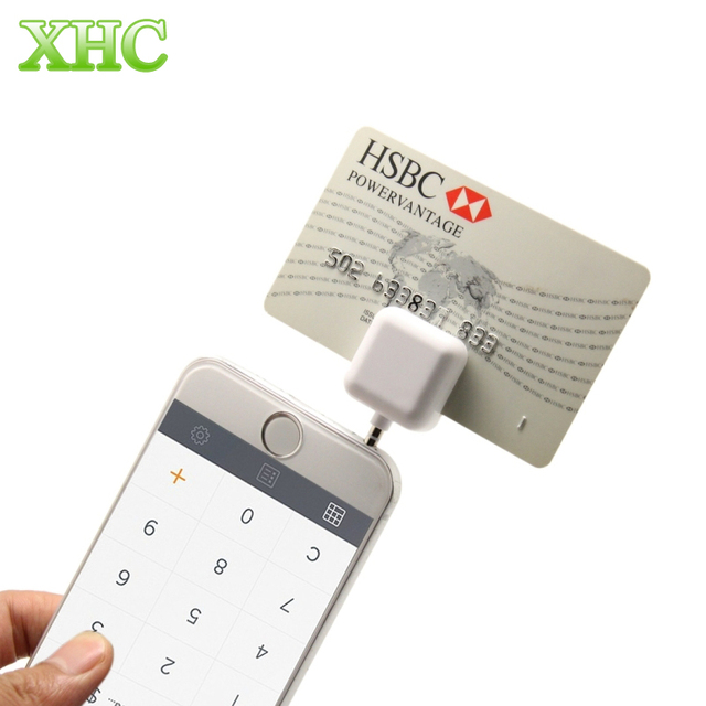 35mm headphone jack mini magnetic mobile card reader works for apple and android ios for - Card Swiper For Android