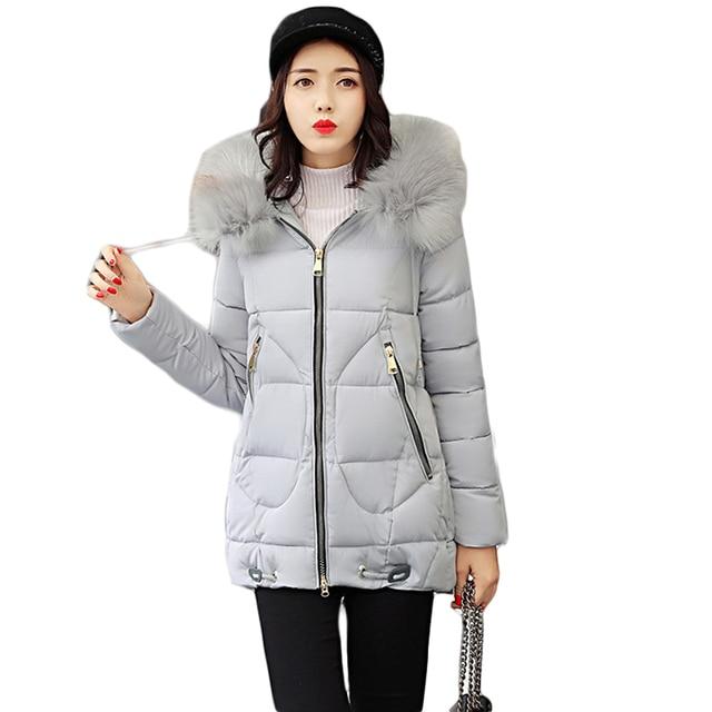 e1c278657c6 2018 Winter Jacket Women Medium-long Winter Coat Parkas Ladies Padded Fur  Hooded Outwear Warm Coat Female Winter Jackets CM1645
