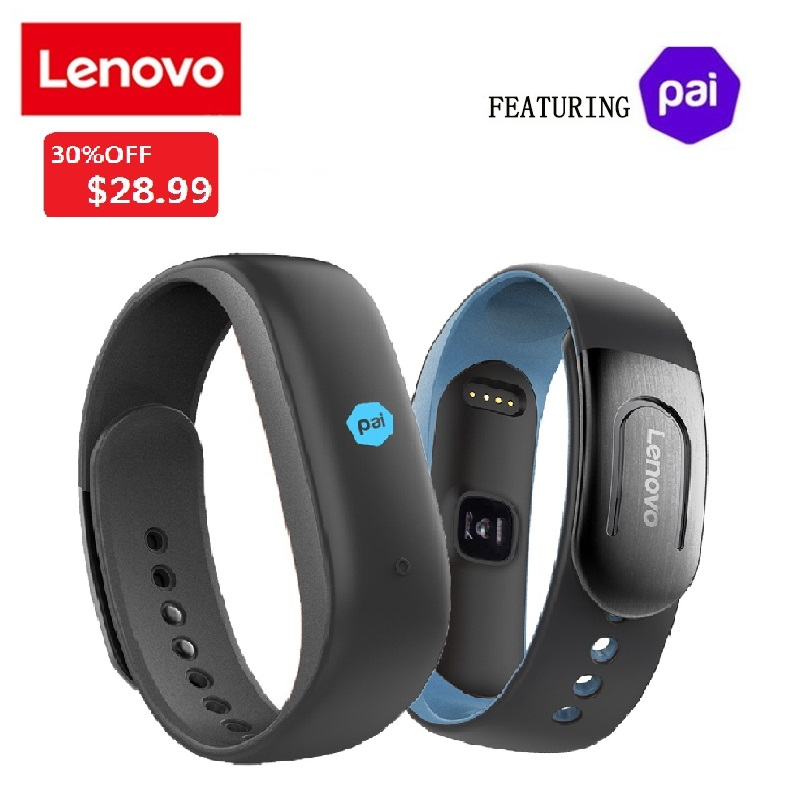 Lenovo HW02 Plus MIO PAI Smart Watch Wristband IP67 Sport Heart Rate Monitor Bluetooth 4.0 Pedometer Smart Band For iOS Android
