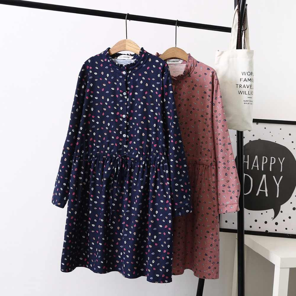 f64d03ad0a1 Ubetoku 2018 Spring women dress ladies long sleeve dresses leaves print  drawstring 4XL plus size casual