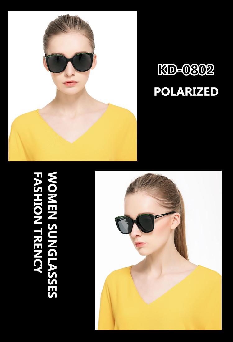 5d0cd107f3c UV400 Sunglasses for Women Black Dark Polarized Lenses EXIA OPTICAL ...
