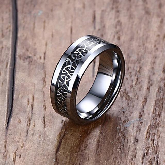 Mprainbow Hochzeit Ringe Carbon Fiber Intarsien Celtics Knoten