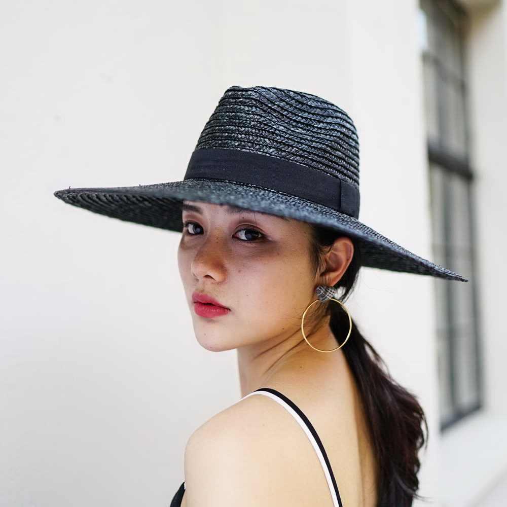 de433c60662e41 ... Muchique Sun Hat X Large Brim Wheat Straw Panama Fedora Hat Summer  Straw Hats for Women ...