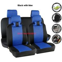 Cubierta de asiento de coche Universal Para Mitsubishi lancer 10 9 galant asx pajero lancer asiento cubre accesorios styling negro/gris/rojo