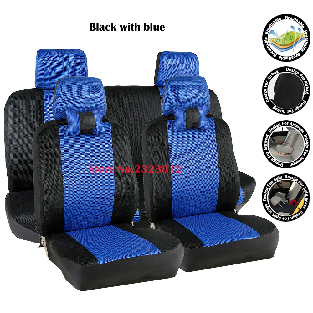 ФОТО Universal car seat covers For Mitsubishi lancer 10 lancer 9 galant asx pajero car-covers accessories styling black/gray /red
