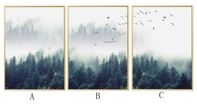 HTB1.oiuXorrK1RkSne1q6ArVVXaf Nordic Decoration Forest Lanscape Wall Art Canvas Poster and Print Canvas Painting Decorative Picture for Living Room Home Decor