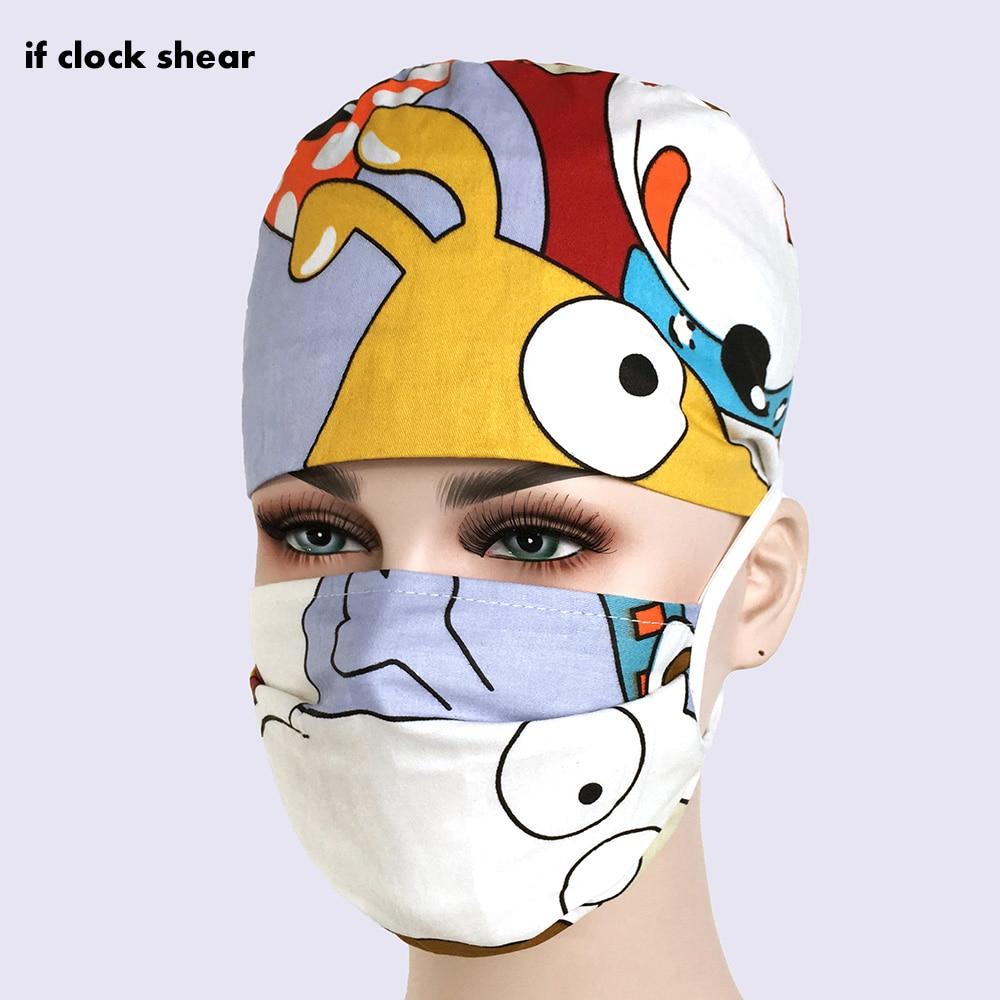 IF Scrub Surgery Cap Nurse Doctor Surgical Unisex Hospital Adjustable Medical Caps Scrub Lab Clinic Dental Operation Hat Scrub