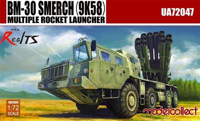RealTS ModelCollect 1/72 UA-72047 Russia BM-30 SMERCH (9K58) Multiple Rocket Launcher
