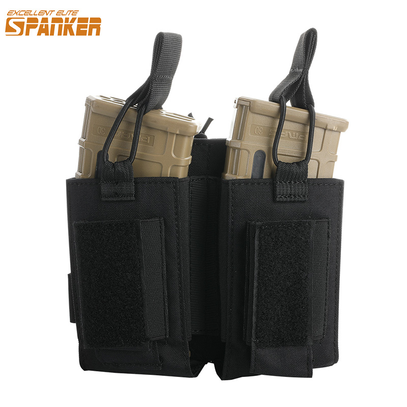 EXCELLENT ELITE SPANKER Tactical Nylon Molle Magazine Pouch AK M4 Pistol Double Magazine Pouches Paintball Game Equipment Bag