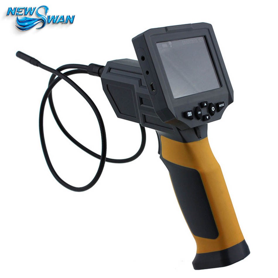 HT 660 6 LEDs Industrial Video Inspection examination: cars mechanical repairs Endoscope 8.5mm Camera Borescope 1M Tube length