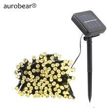 50led/100/200 led solar lâmpadas led string luzes de fadas guirlanda natal luzes solares para casamento festa de jardim decoração ao ar livre