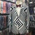 БЕСПЛАТНАЯ ДОСТАВКА 2015 новая мода человек блейзер белый с черным цветом куртки куртки мужские