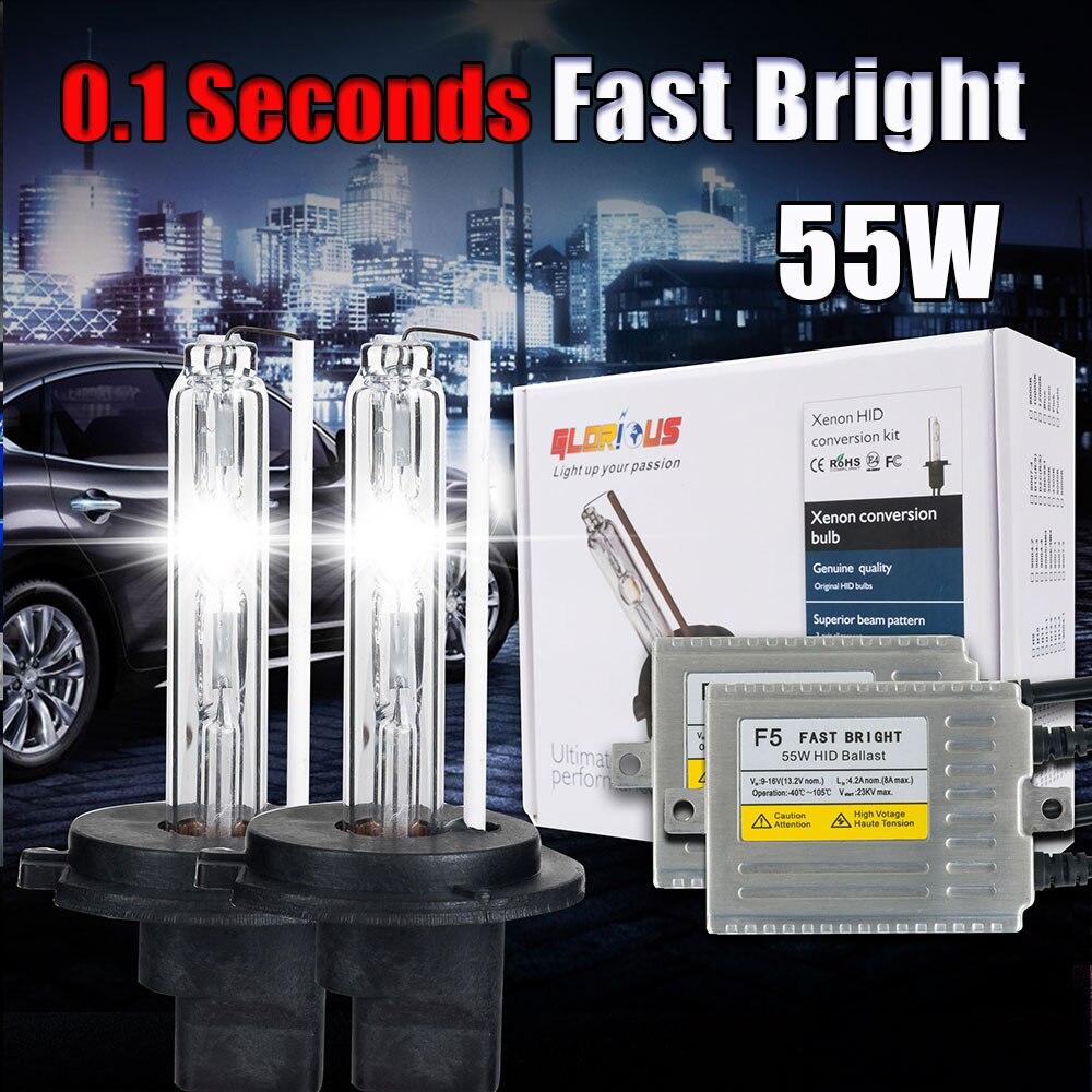 1Set F5 55W fast bright H7 Xenon HID Kit 3000K 4300K 5000K 60000K 8000K 10000K 30000K