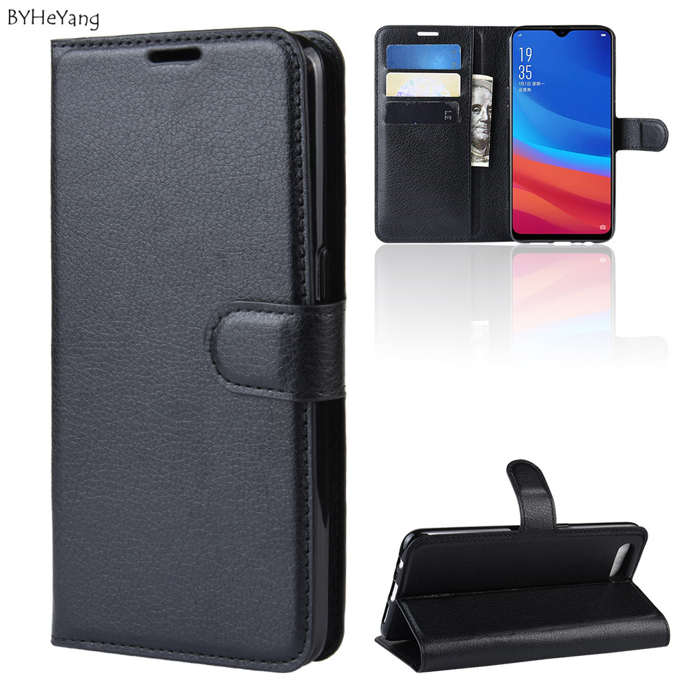 <font><b>Case</b></font> For <font><b>OPPO</b></font> AX5S Flip Leather <font><b>Wallet</b></font> <font><b>Case</b></font> Card Holder Phone Coque Black Book Cover For <font><b>OPPO</b></font> <font><b>A5S</b></font> Business phone bag on <font><b>A5s</b></font> AX5S image