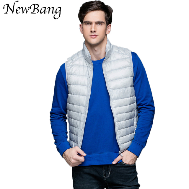 Men's Ultra Light Duck Down Vest Sleeveless Jacket Men Gilet  Mens Warm Vest chalecos hombre sin mangas