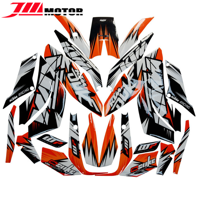 Hot sale new arrival motorcycle whole vehicle 3m decals stickers transfit for ktm duke 125 200