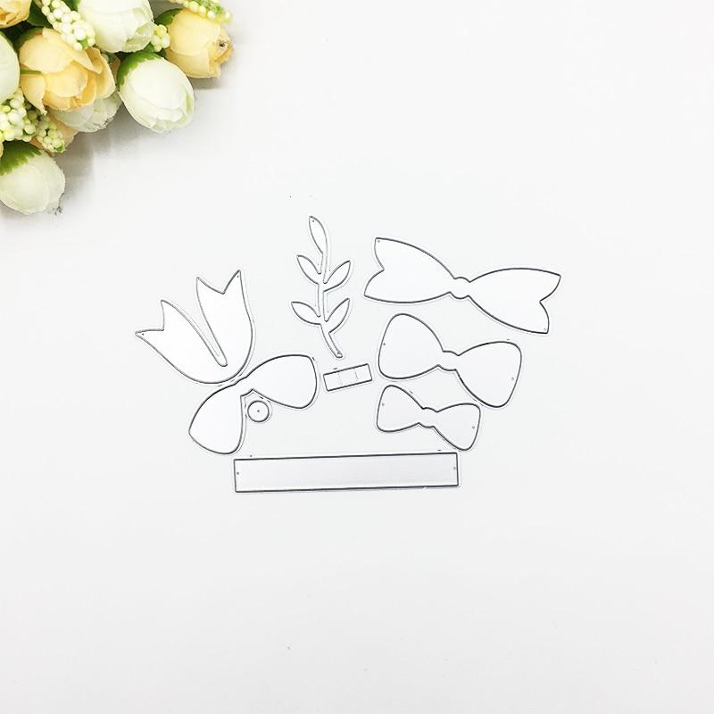 Julyarts Bow Tie Flower Metal Die Cutting Stencil For Scrapbooking Party Wedding Card Making DIY Card Die Cut Crafts Die Stitch in Cutting Dies from Home Garden