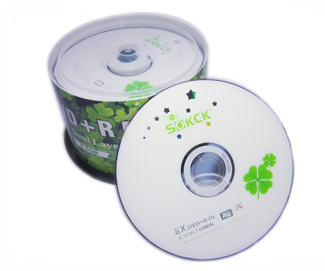 Wholesale DVD+R 8.5GB Dual Layer D9 8X 240min 10pcs/lot Free Shipping