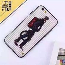 Transferência gratuita para IPhone 7/7 Plus Capa Fashional & Cool Design TPU Caso com Fivela Anel Stand Titular