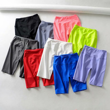ZYFPGS 2019 Knee Length Pants For Women Fitness Five Slim Fit Solid New Arrivals Harajuku Multiple Colour Classic Hot Sale