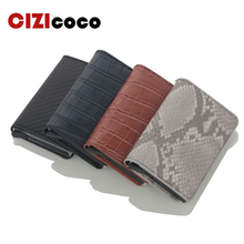 Cizicoco 2019 new Men Card Holder Carbon fiber Credit Super Light Business ID card Cases Mini Wallet Dropshipping