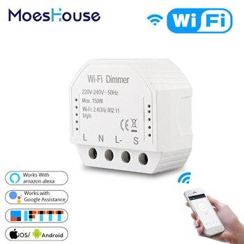 DIY умный WiFi свет светодиодный диммер переключатель Smart Life/Tuya приложение дистанционное управление 1/2 переключатель, работает с Alexa Echo Google Home