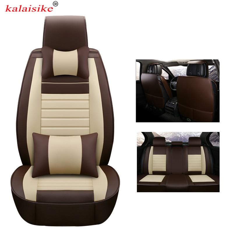 Kalaisike housses de siège de voiture universelles en cuir pour Dodge Avenger chargeur dard RAM auto style accessoires Automobiles