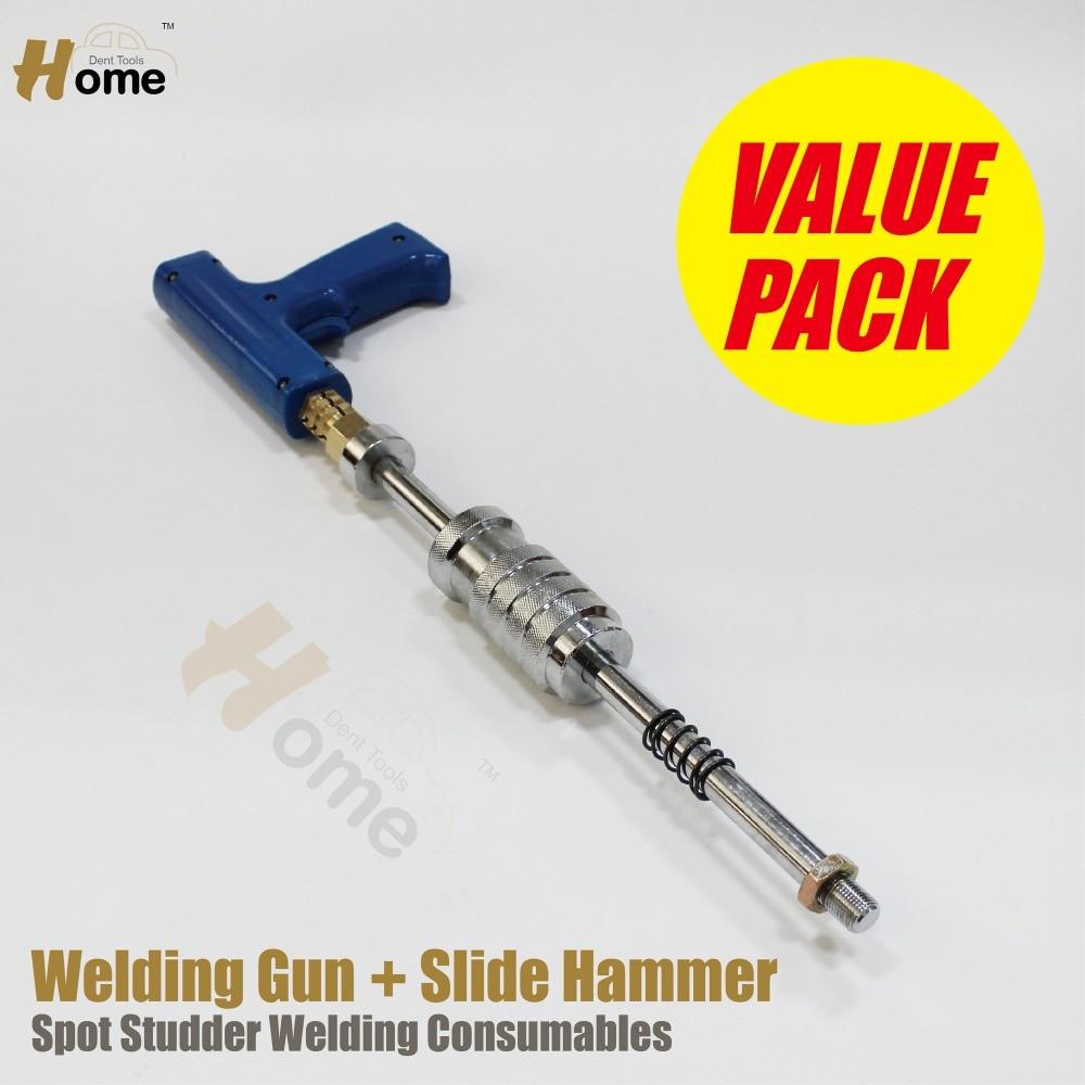Welding Stud Gun Kit Dent Puller Slide Hammer  WGS-2  цены