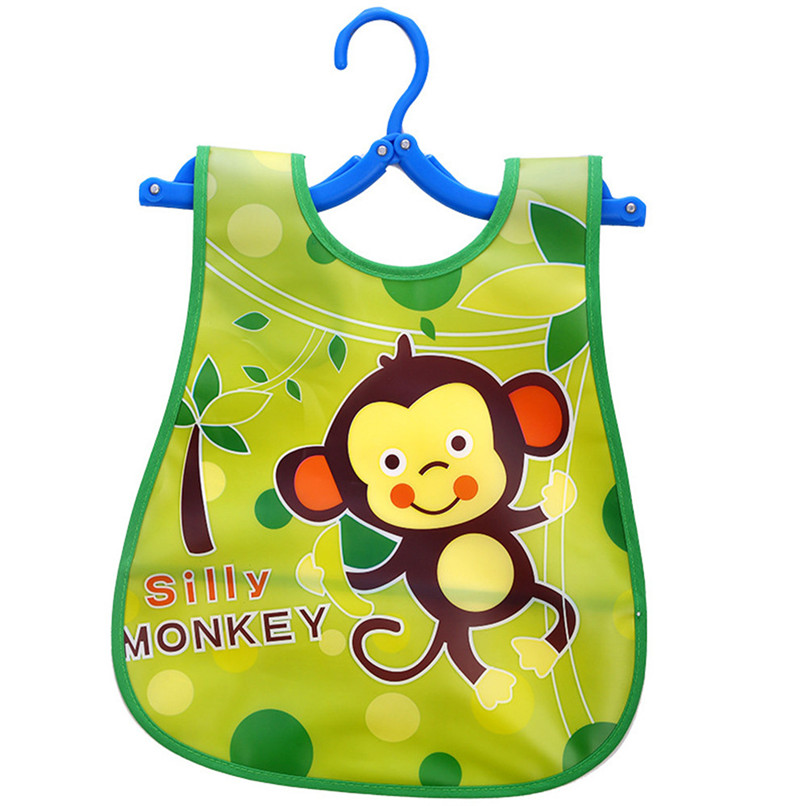 Adjustable Baby Bibs EVA Plastic Waterproof Lunch Feeding Bibs Baby Cartoon Feeding Cloth Children Baby Apron Babador de bebe (11)