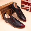 Spring Fashion Men Brogue Shoes Breathable Casual Leather shoes Male Flats Trend Oxford shoes chaussure homme Wedding shoes 022