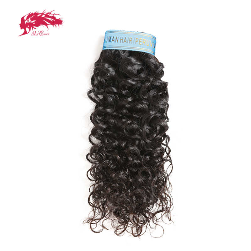 Ali Queen Hair Products 10A Peruvian Hair Water Wave Virgin Hair 1/3/4Pcs Hair Bundles Natural Color 100% Human Hair Weaving