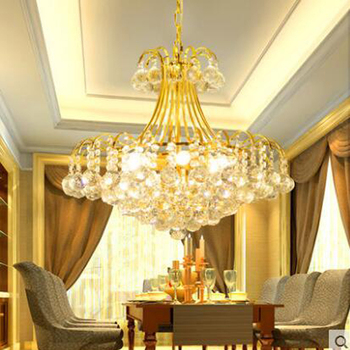 Runde goldenen wohnzimmer led-kristall-kronleuchter warmes schlafzimmer lampen zimmer gang atmosphäre esszimmer esszimmer kronleuchter led-beleuchtung