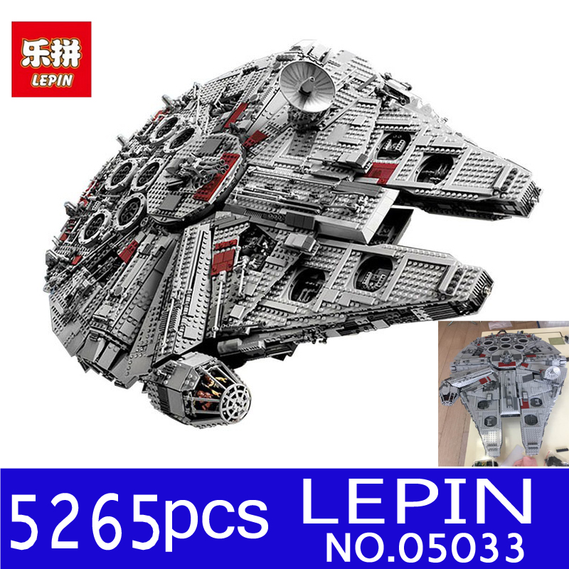 LEPIN 05033 5265Pcs 05077 Star Ultimate Wars Collector's Millennium Falcon Model Building Blocks Bricks Toys Compatible 10179 мастерок бетонщика трапеция профи 180мм fit hq 05077