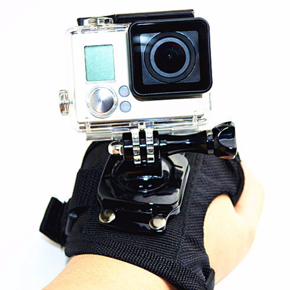 Sangle de poignet de caméra rotative pour GoPro Hero 4 3 + 3 2 1 360 degrés bracelet de poignet de Style gant support de sangle de montage à la main grande taille
