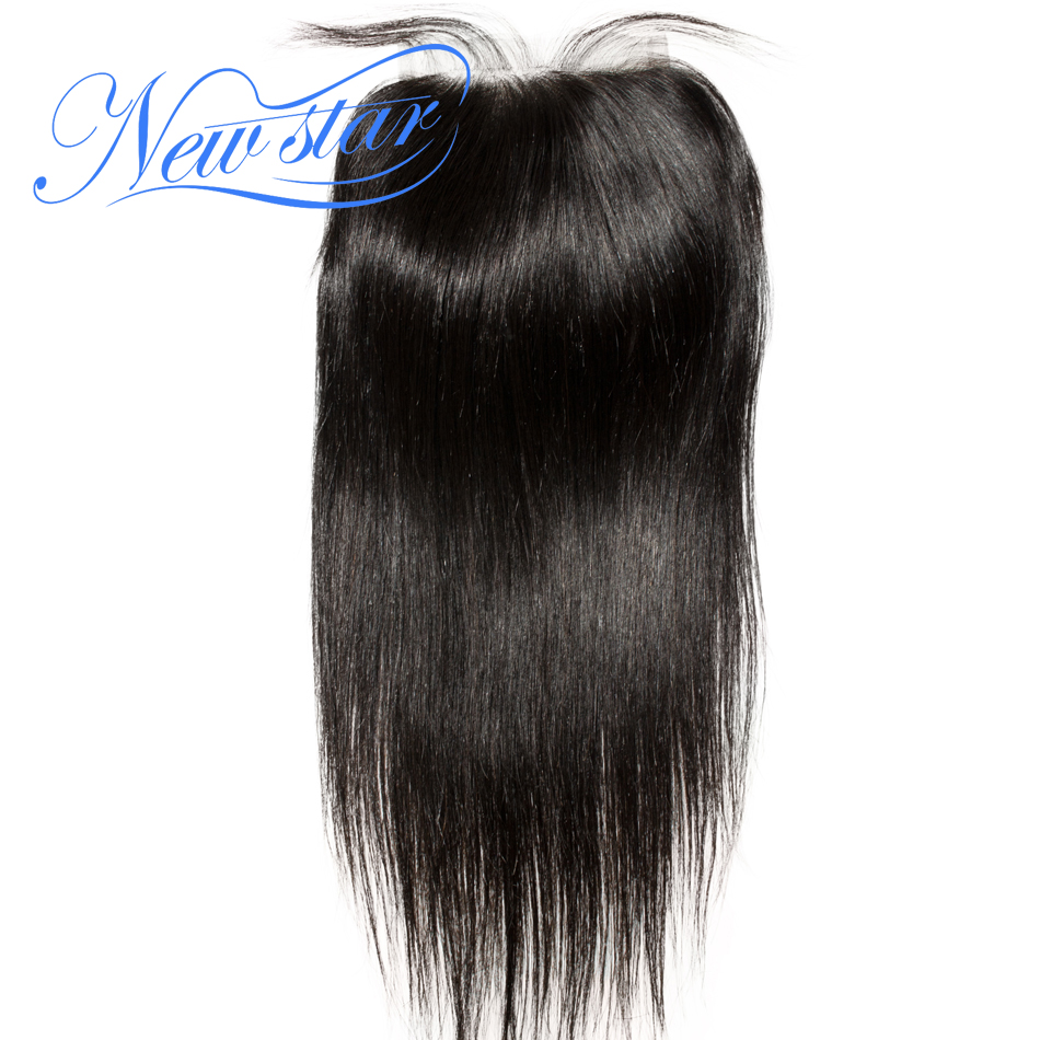 New Star Hair Peruvian Straight Lace 5x5 Closures 10-20Inch Free Part 100% Virgin Human Hair Swiss Lace With Baby Hair