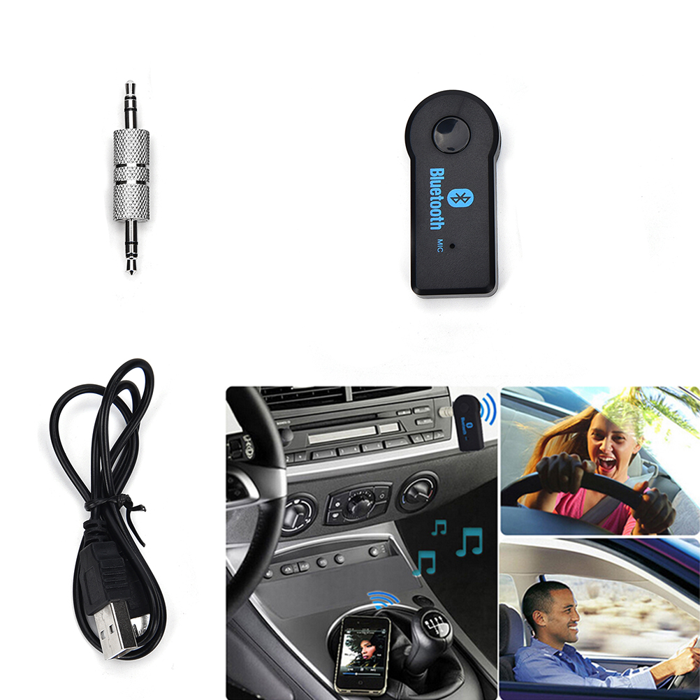 2016 Handfree Car Bluetooth Music Receiver Universal 3 5mm Streaming A2dp Wireless Auto Aux: JETTING Wireless Car Bluetooth Receiver Adapter 3.5MM AUX Audio Stereo Music Home Hands Free Car
