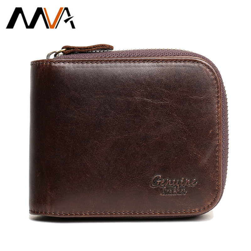 MVA Card Holder Purse Men Wallet Short Vintage Genuine Leather Men Organizer Wallets Leather Wallet Brand Male Coin Purse New men wallet male cowhide genuine leather purse money clutch card holder coin short crazy horse photo fashion 2017 male wallets