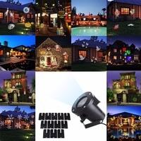 Aimbinet 12 Patterns Laser Snowflake Projector Outdoor LED Lights Home Garden Star Light Indoor Decoration Christmas