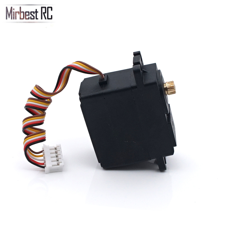 Image 4 - Metal gear servo torque 5kg WLtoys 12428 12423 brushless parts upgrade 1/12 RC car DIY accessories 1/18 car Remo Hobby SmaxParts & Accessories   -