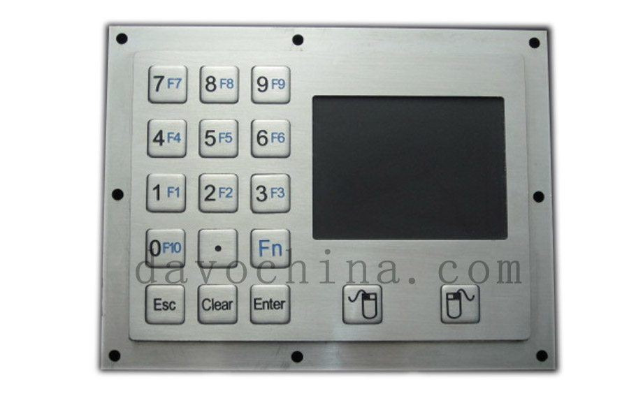 Metal Numeric Keyboard with Touchpad with 15 keys stainless steel keypads numeric keypad 19 keys