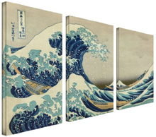 3 Panel Waves Picture Wall Decor Print on Canvas Oil Painting for Christmas Gift