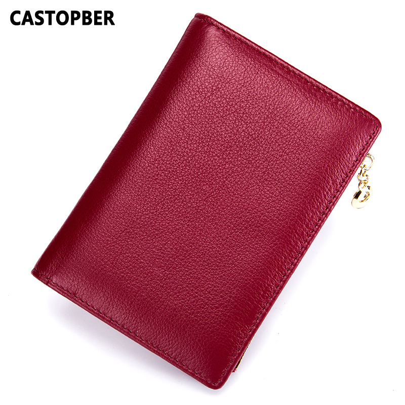 New Simple Passport Cover For Men Genuine Leather Cowhide Women Wallet Long Zipper Purse Card Holders Travel Document Organizer top brand genuine leather wallets for men women large capacity zipper clutch purses cell phone passport card holders notecase
